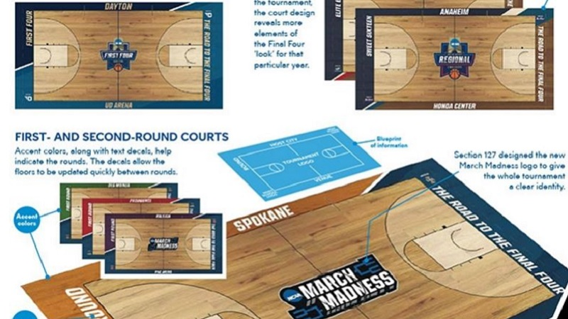 NCAA unveils new tournament courts for each round of March Madness