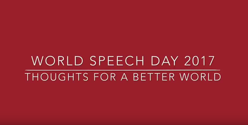 World Speech Day: Thoughts for a Better World