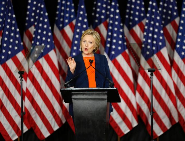 Clinton attacks Trump's foreign policy as a threat to U.S. safety