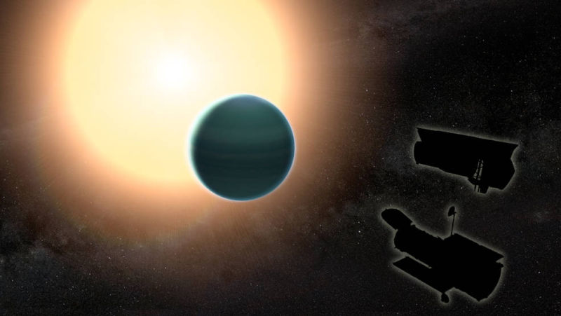Astronomers find water in the atmosphere of a warm, Neptune-sized planet