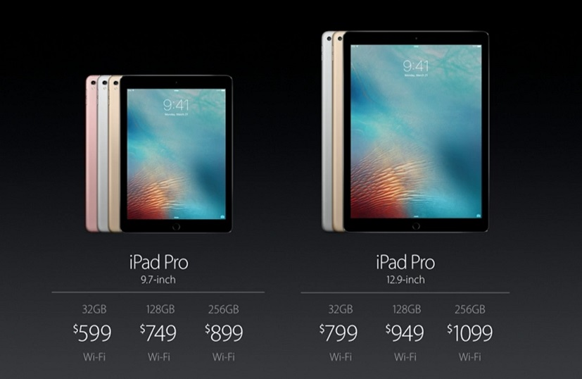 New iPad Pro announced: $599, 9.7-inch display, weighs less than one pound
