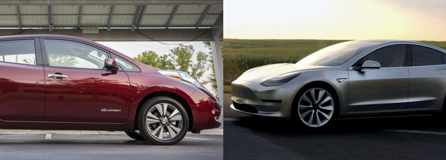 Nissan LEAF sales are in free-fall and Tesla Model 3 could have something to do with it